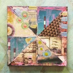 revamped mixed media collages - karen michel