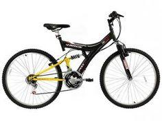 Bicicleta Aro 26 Full Suspension 18 Marchas - Freios V-Brake Track & Bikes TB-100