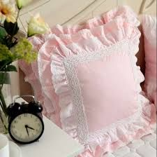 Cheap cushion cover, Buy Quality cotton pillow covers directly from China cushion cover embroidered Suppliers: White European embroidered cushion cover ruffle Lace Satin cotton pillow cover handmade elegant bedding pillowcase sofa cushion Draps Design, Bed Cover Design, Ruffle Pillow, Diy Cushion, Cushion Covers, Shabby Chic Pink, Embroidered Cushions, Sewing Pillows, Baby Pillows