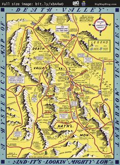 Lindgren's Humorous #Map of Death Valley (1948) -- http://www.bigmapblog.com/2012/lindgrens-humorous-map-of-death-valley-1948/