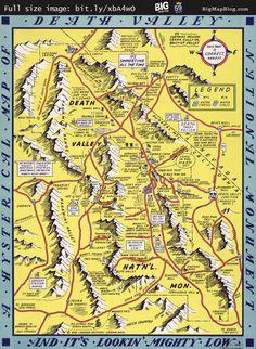Lindgren's Humorous #Map of Death Valley (1948) -- http://www.bigmapblog.com/2012/lindgrens-humorous-map-of-death-valley-1948/