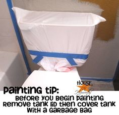 How to paint around a toilet- the easy way!