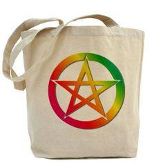 Bright pentacle Tote Bag. $15.59