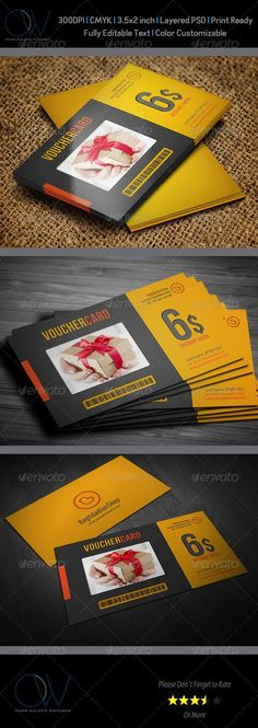 Gift / Voucher Card Template PSD | Buy and Download: http://graphicriver.net/item/gift-voucher-card-vol-2/3691337?WT.ac=category_thumb&WT.z_author=omar_almudaries&ref=ksioks