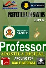 Apostila Digital Concurso Prefeitura de Santos SP Professor 2016