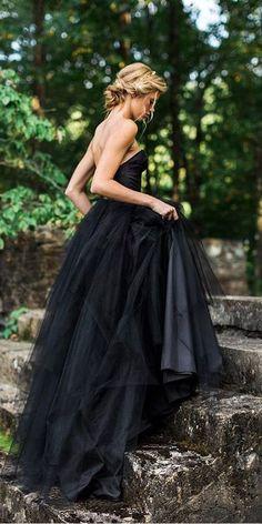 33 Beautiful Black Wedding Dresses That Will Strike Your Fancy ★black wedding dresses a line sweetheart elizabeth dye #bridalgown #weddingdress