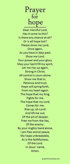 Prayer for hope