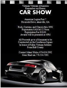 Luxurious Cars Show Flyer Cars Pinterest Flyer Template Cars - Car show flyer template word