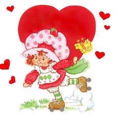 Classic Strawberry Shortcake - It's February Today Strawberry Shortcake Characters, Vintage Strawberry Shortcake, Strawberry Art, Retro, Vintage Valentine Cards, Funny Valentine, Cartoon Posters, Cartoon Tv Shows, Rainbow Brite