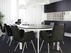 IKEA Hackers Make Conference Table With Three Ikea Table Tops - Ikea white conference table