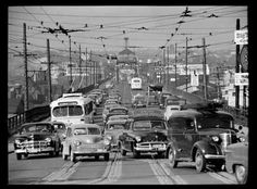 🇨🇦 Old Granville Street Bridge from the Vancouver Archives 🎞 Richmond Vancouver, Vancouver Bc Canada, Granville Street, City Of Glass, Fraser Valley, Most Beautiful Cities, Local History, Old City, Car Photos