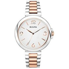 Bulova 98L195 Ladies Dress Two Tone Steel Bracelet Watch * Find out more about the great product at the image link.