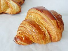 croissant and butter recipe Food by marzzlomzy French Sweets, French Pastries, Donuts, Chocolate Butter Cake, Butter Croissant, Food Menu Design, Flaky Pastry, Butter Recipe, Different Recipes