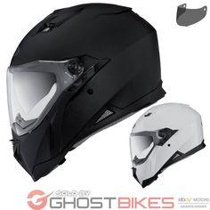 Caberg Stunt Motorcycle Helmet & Visor Integral Full Face Motorbike Dark Smoke