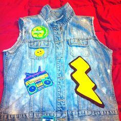 Custom Acid Wash Denim Vest Part 4 of 5.  Let me know if you want custom work done.