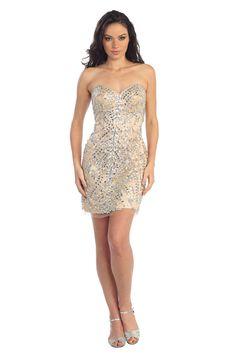 Poovey Homecoming Dresses Short 2015