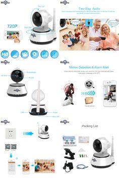 [Visit to Buy] Home Security IP Camera Wireless Smart WiFi Camera WI-FI Audio Record Surveillance Baby Monitor HD Mini CCTV Camera Hiseeu FH2A #Advertisement