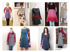 PDF pattern eBook Raglan dress Toni sew and sewing patterns
