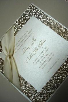 High End Wedding Invitations Box | Wedding Invitation Elegant High End  Embossed Gold .