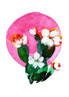 Items similar to Bubble Rainbow Round Circle Cacti Saguaro Desert Scene Cactus Botanical Watercolor Art Print on Etsy Watercolor Circles, Watercolor Cactus, Watercolor Paintings, Watercolors, Kiss Illustration, Cactus Illustration, Desert Art, Circle Art, Pink Bubbles