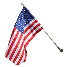 American Flag Kit with 5-Foot Aluminum Spinning Pole and Bracket