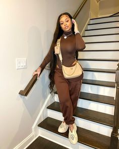 Swag Outfits For Girls, Cute Swag Outfits, Dope Outfits, Girl Outfits, Casual Outfits, Fashion Outfits, Fashion Ideas, Teenager Outfits, School Outfits