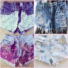 ideias para customizar jeans destruído
