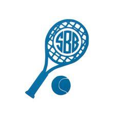 Tennis Monogram Vinyl Decal by The Initialed Life Tennis Shirts, Tennis Clothes, Cricut Vinyl, Vinyl Decals, Big Little Sorority Shirts, Tennis Shop, Cut Out Art, Monogram Shirts, Embroidery Monogram