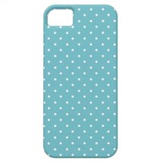 Blue-Curacao And-White-Polka-Dots iPhone 5 Cover