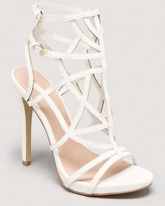BEBE GABRIELA CAGED SANDALS | Buy ➜ http://shoespost.com/bebe-gabriela-caged-sandals/