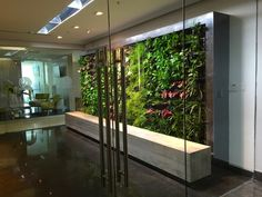 Jova Green Wall Is An Interior Wall Located At The Officeu0027s Lobby In A  Fourth Floor