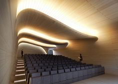 University of Oxford by Zaha Hadid Architects.Softbridge, University of Oxford by Zaha Hadid Architects. Zaha Hadid Architektur, Arquitectos Zaha Hadid, Auditorium Design, Flur Design, Plafond Design, Architecture Details, Interior Architecture, Theatre Architecture, University Architecture