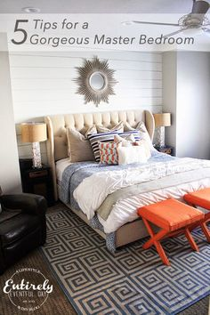 5 Tips for Creating a Gorgeous Master Bedroom ~ Entirely Eventful Day Master Bedroom Interior, Cozy Bedroom, Bedroom Bed, Bedroom Decor, Bedroom Ideas, Bedroom Styles, Beautiful Bedrooms, Interior Design, Furniture