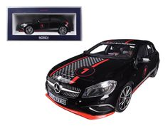 2013 Mercedes A Class Sport Equipment Black with Racing Deco 1/18 Diecast Car Model by Norev - Brand new 1:18 scale diecast car model of 2013 Mercedes A Class Sport Equipment Black with Racing Deco die cast car model by Norev. Brand new box. Rubber tires. Has steerable wheels. Made of diecast metal. Detailed interior, exterior. Has opening hood, doors and trunk. Dimensions approximately L-10, W-4.5, H-3.25 inches.-Weight: 4. Height: 8. Width: 15. Box Weight: 4. Box Width: 15. Box Height: 8…