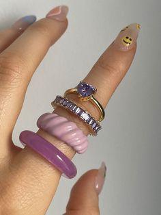Nail Jewelry, Trendy Jewelry, Cute Jewelry, Jewelry Rings, Jewelry Accessories, Jewlery, Cute Rings, Pretty Rings, Lunette Style