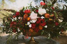 red anemone centerpiece
