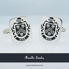 Rice family crest cufflinks