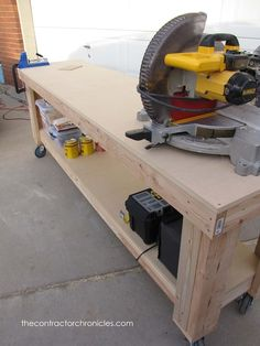 DIY Workbench on Wheels | The Contractor Chronicles