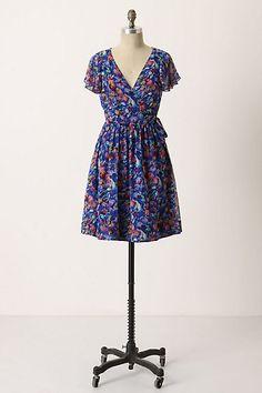 Blooming Sapphire Wrap Dress #anthropologie Moulinette Soeurs