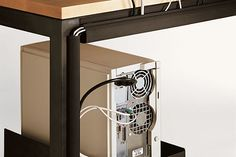Room & Board – Essentials Cord Management – Modern Office Organization – Modern Home Decor – Office Design 2020 Office Office, Office Decor, Office Ideas, Office Hacks, White Office, Family Office, Office Style, Cord Organization, Desktop Organization