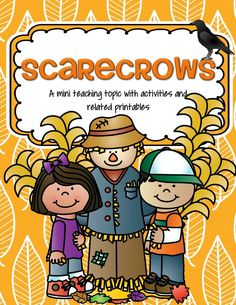 Scarecrows theme activities and printables for preschool