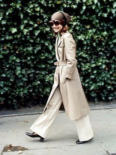 #Trench coat #Jacqueline Kennedy