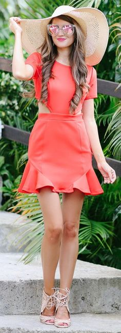 Bright Coral Cut-Outs