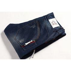 Fold Zipper Straight Denims