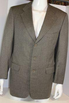 Trussini Linea Classico Wool Blazer Sportcoat Men 3 Button Gray Made in Italy #TrussiniLineaClassico #ThreeButton