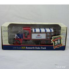 """ETRL Mobiloil 1/34 Scale 1999 Diecast 1925 Kenworth Stake Truck Gargoyle 9"""" #Ertl #Kenworth"""