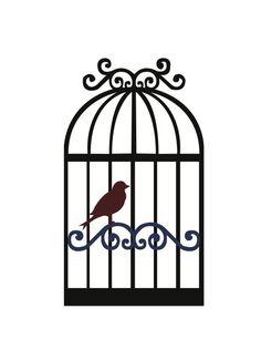 free svg files | To purchase this SVG file, click here: BirdwithCage