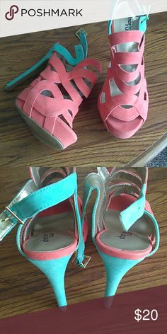 Charlotte Russe Heels Good condition. Size 7 Charlotte Russe Shoes Heels