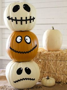 no carve pumpkin ideas for kids halloween decor