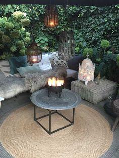 30 Amazing Backyard Seating Ideas - Gardenholic Outdoor Rooms, Outdoor Gardens, Outdoor Living, Outdoor Furniture Sets, Outdoor Decor, Wooden Furniture, Adirondack Furniture, Adirondack Chairs, Backyard Seating
